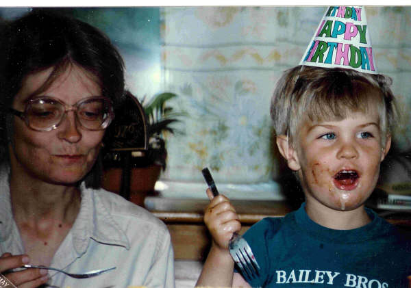 Scott and Nancy on Scott's B-day 1987